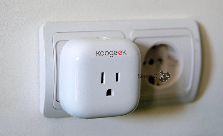 Умная розетка Koogeek SmartPlug P1 для дома - совместима с iPhone