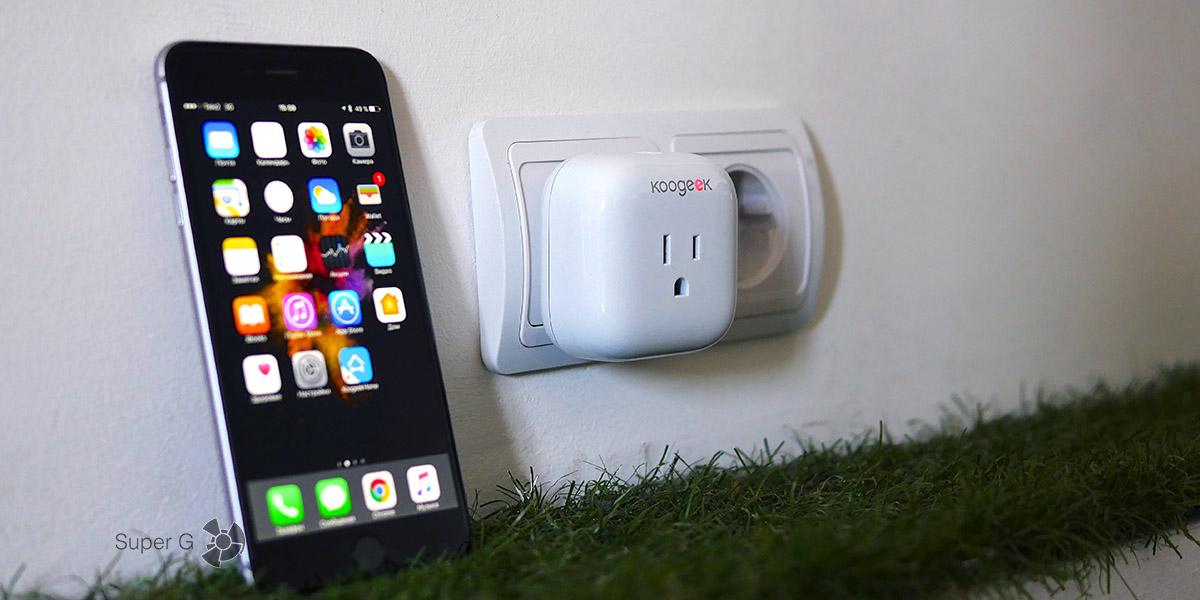 Подключение Koogeek SmartPlug P1 к iPhone 6 Plus