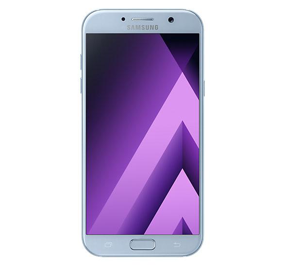 Samsung Galaxy A7 2017 голубой (спереди)