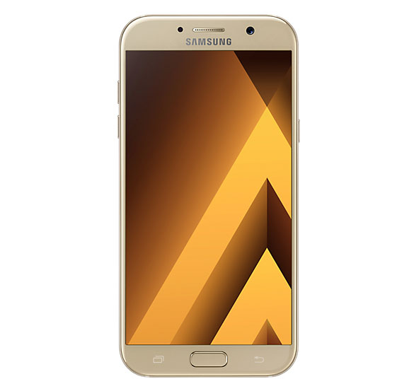 Samsung Galaxy A7 2017 золотой (спереди)