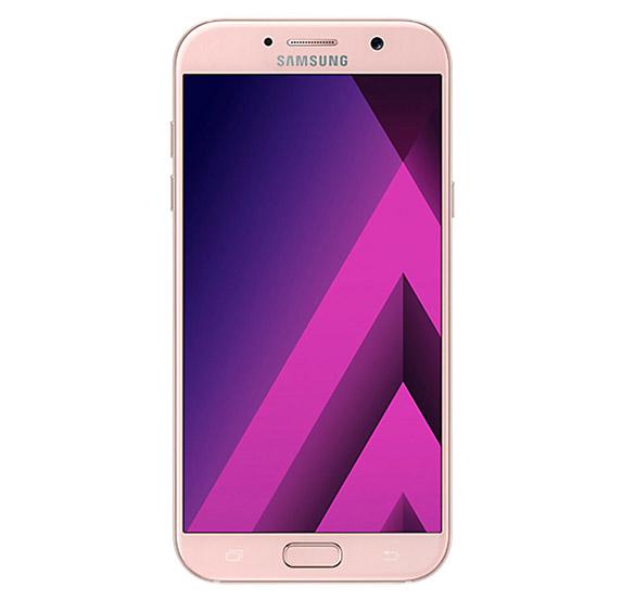 Samsung Galaxy A7 2017 розовый (спереди)