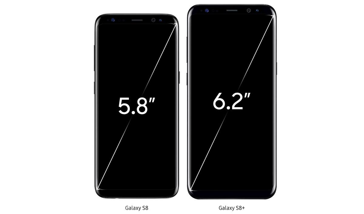 Samsung Galaxy S8 сравнение Samsung Galaxy S8+