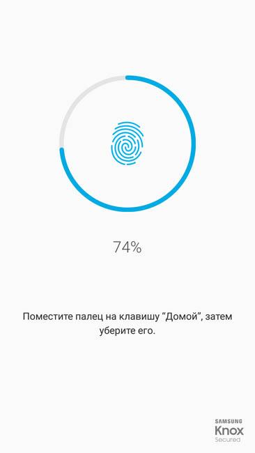 Регистрация отпечатка пальца в систему Samsung Galaxy A7 (2017)