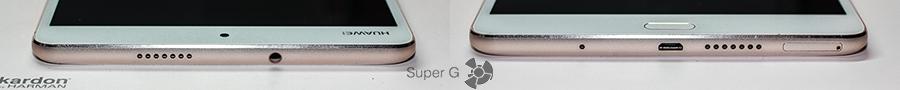 Верх и низ Huawei MediaPad M3