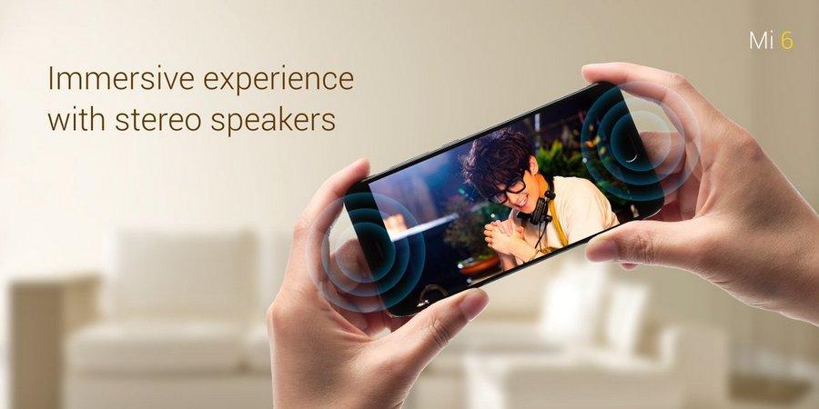 Xiaomi Mi6 стереодинамики