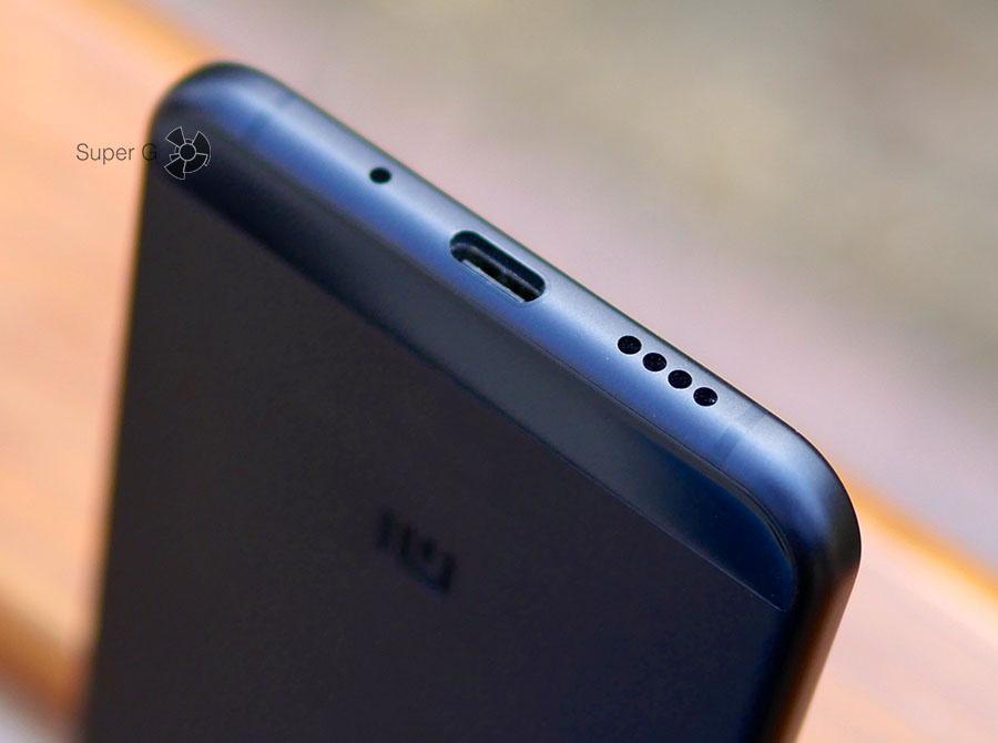 Разъём USB C и динамик в Xiaomi Mi 5C