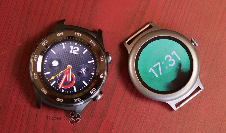 Huawei Watch 2 (справа) и LG Watch Style (слева)