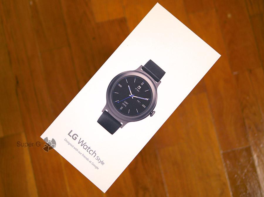 Коробка из-под LG Watch Style - распаковка умных часов