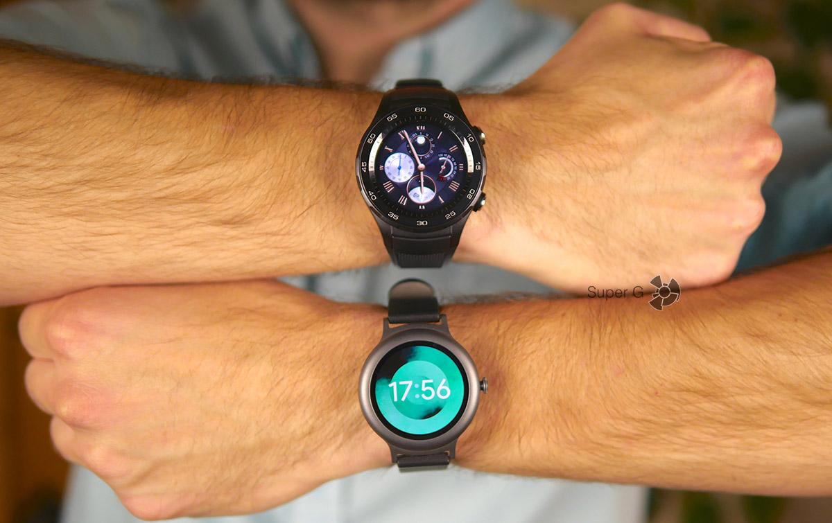 Тестируем Huawei Watch 2 и LG Watch Style (снизу)