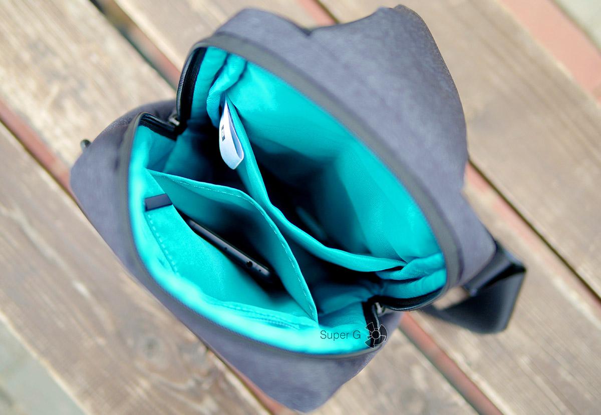 Внутренние отделения сумки Xiaomi Sling bag
