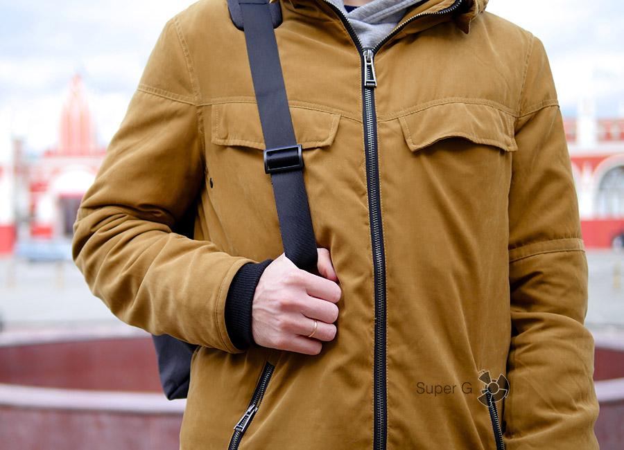 Как оно в жизни - Xiaomi Sling bag (вид спереди)