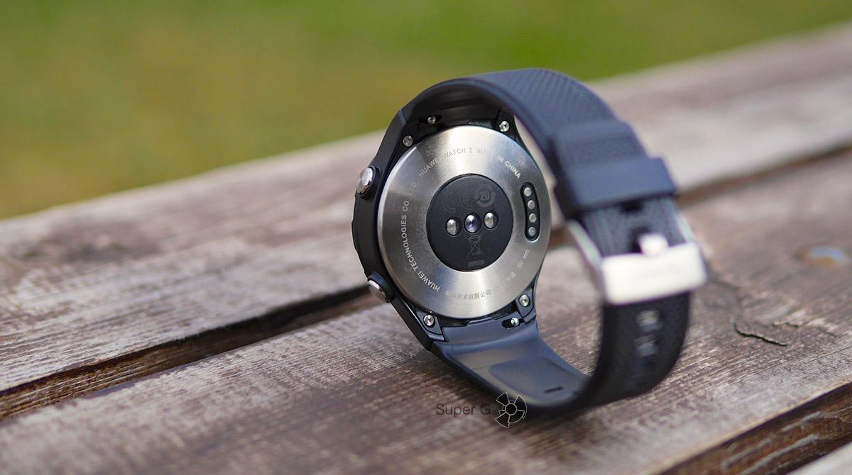 Датчик сердечного ритма у Huawei Watch 2