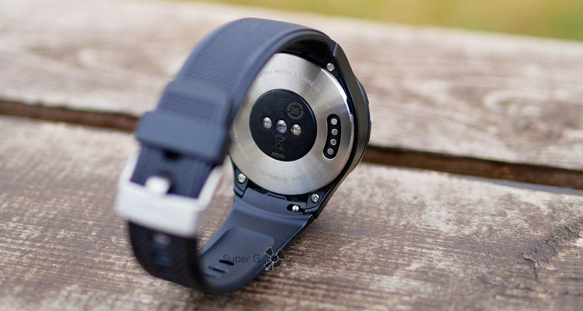Контактная площадка для подключения Huawei Watch 2 к зарядке