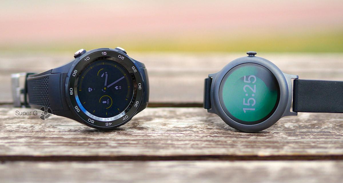 Huawei Watch 2 (слева) и LG Watch Style (справа)