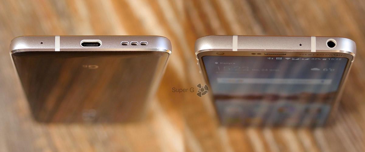 Разъёмы и динамик LG G6