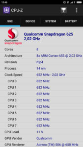 CPU-Z Xiaomi Redmi Note 4X