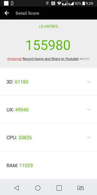 Производительность LG G6 в AnTuTu 6.2.7