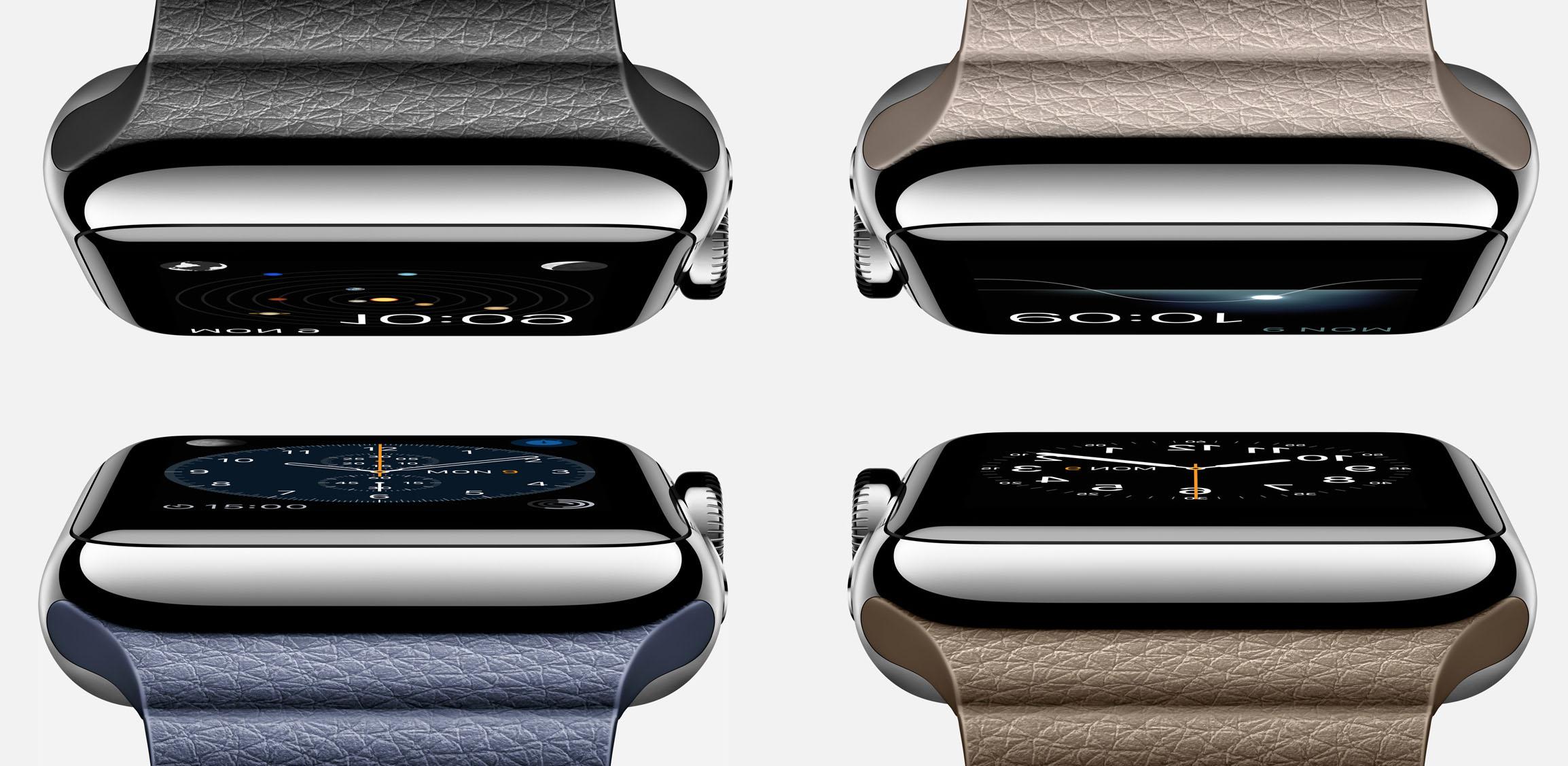 Apple Watch с кожаным фактурным ремешком