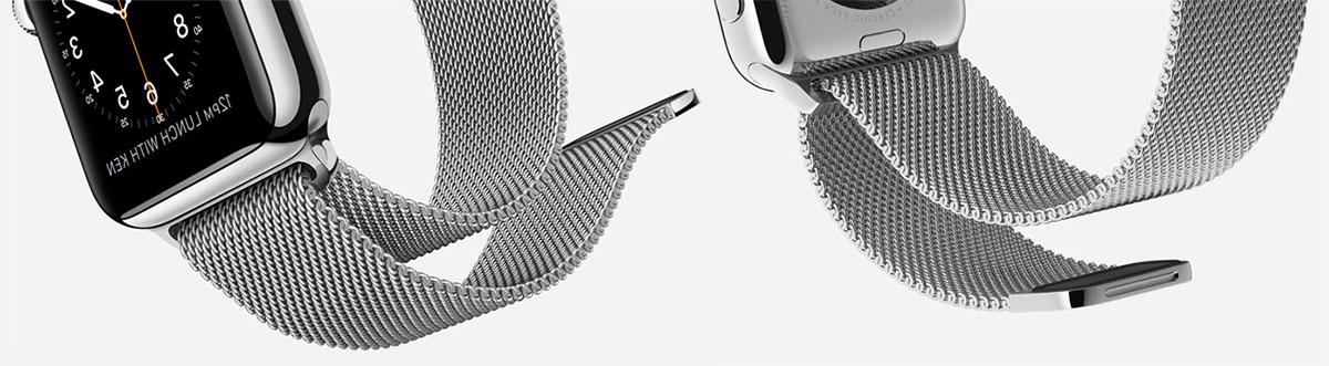 Apple Watch с миланским ремешком