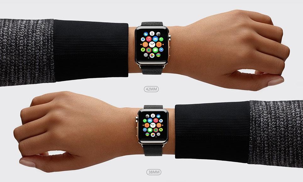 Apple Watch 38 мм и 42 мм (размеры)