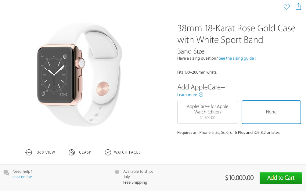 Apple Watch Edition как купить