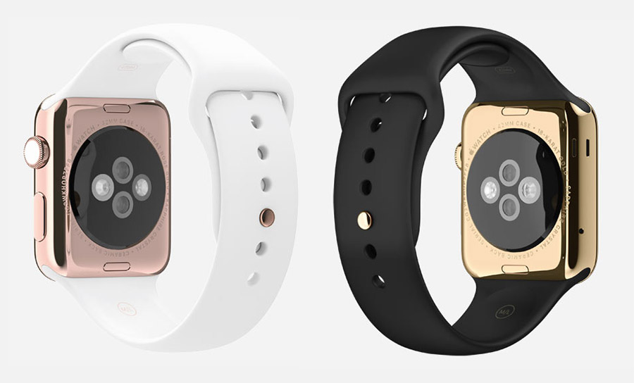 Apple Watch Edition розовое и желтое золото
