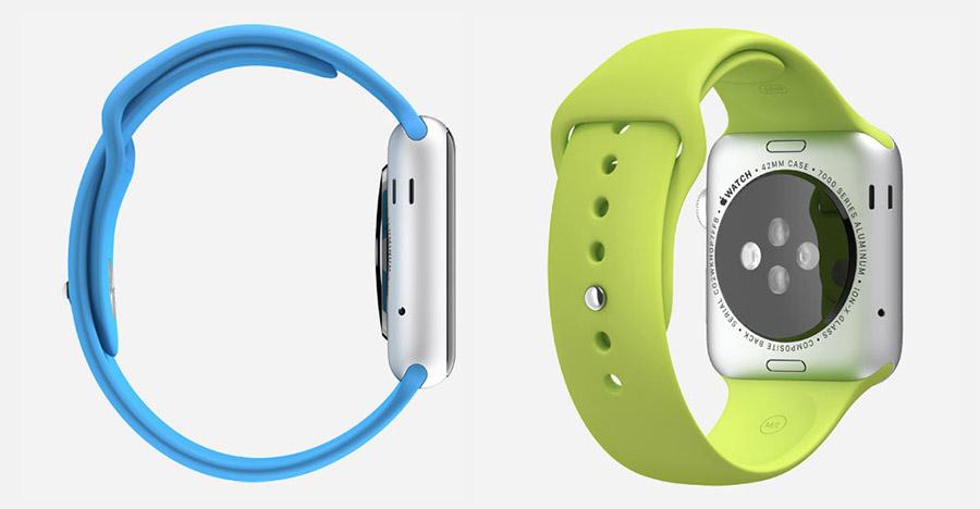 Apple Watch Sport (синие и зеленые)