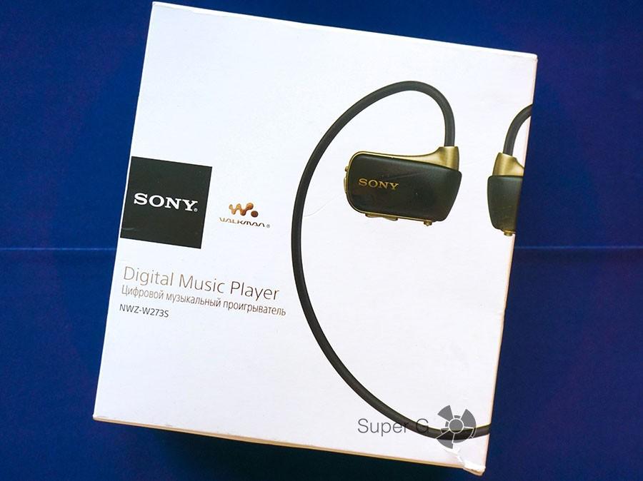 Упаковка из под Sony Walkman W273S