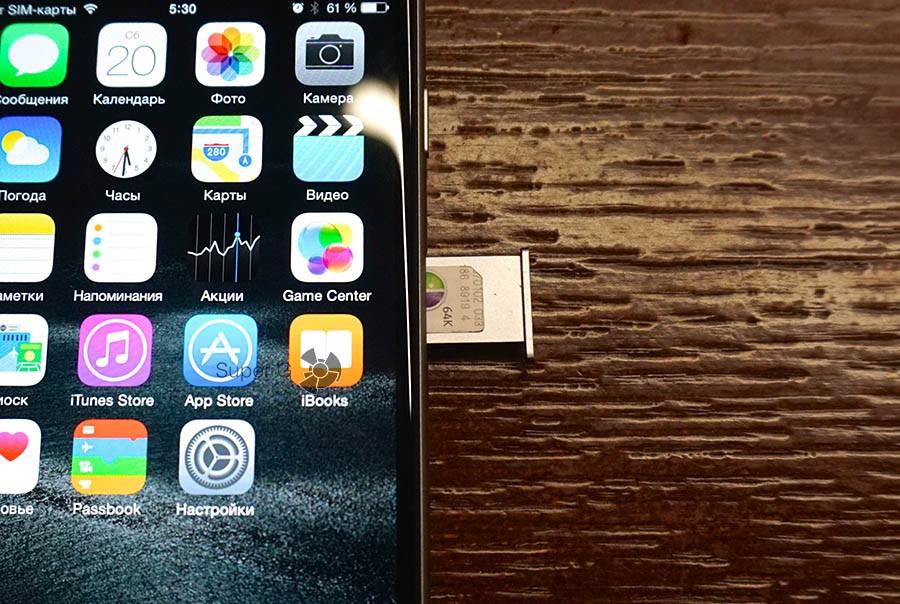 Лоток SIM-карты