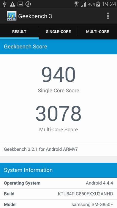 Geekbench 3 (общий счет)
