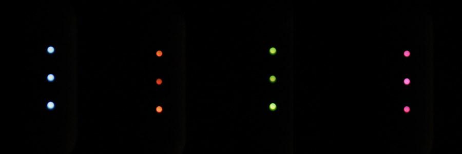 Индикаторы в темноте
