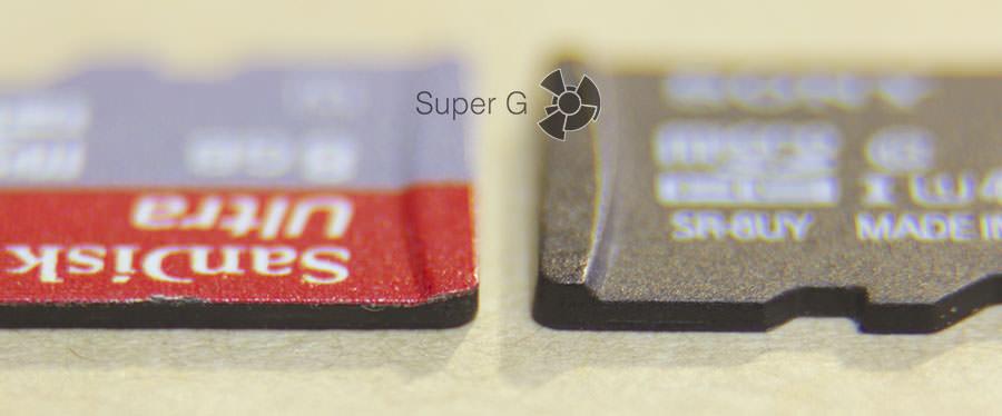 Разный размер MicroSD-карт