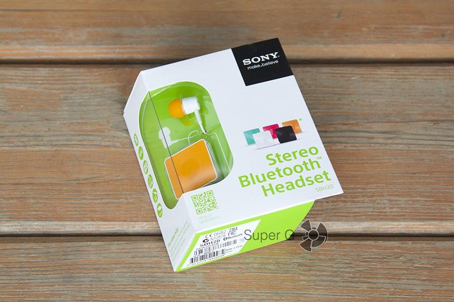 Упаковка Sony SBH20
