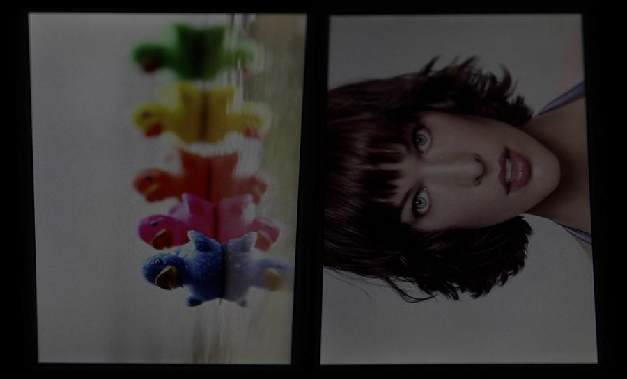 Экран Sony Xperia M2 (сбоку и под углом)