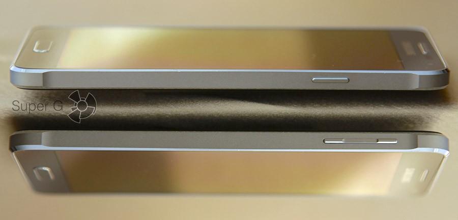 Боковые стороны Samsung Galaxy Alpha