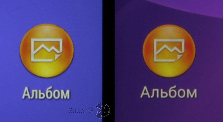 Сравнение плотности пикселей: T3 слева, Z2 справа)