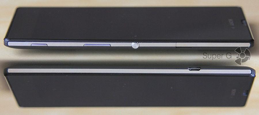 Sony Xperia T3 с боков