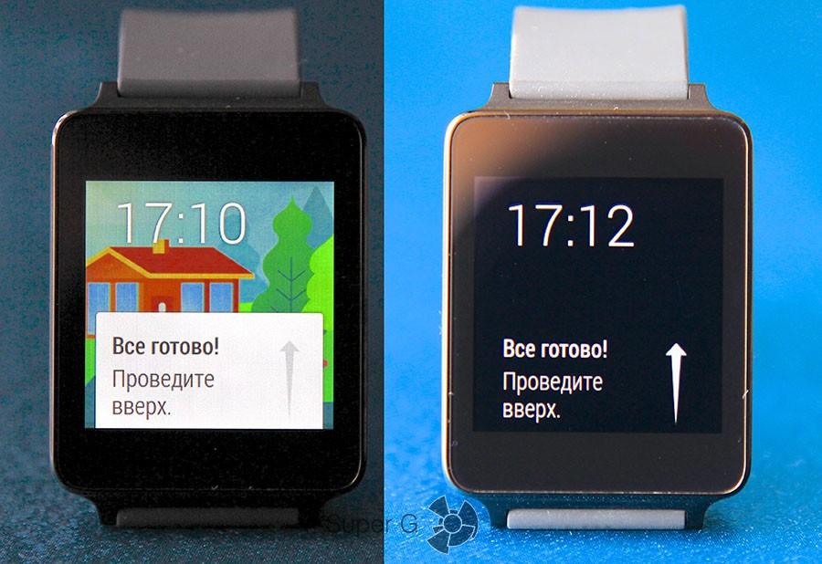 Дисплей LG G Watch
