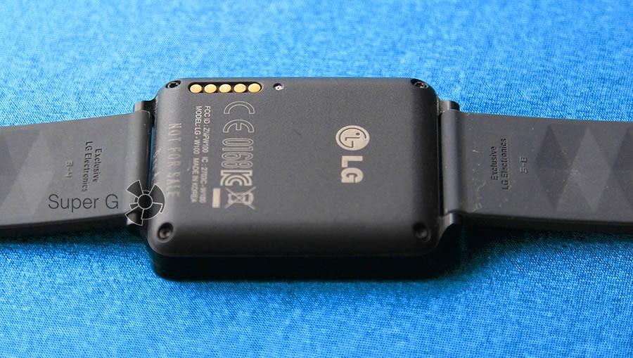 Обратная сторона LG G Watch