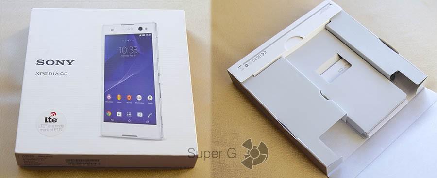 Коробка Sony Xperia C3