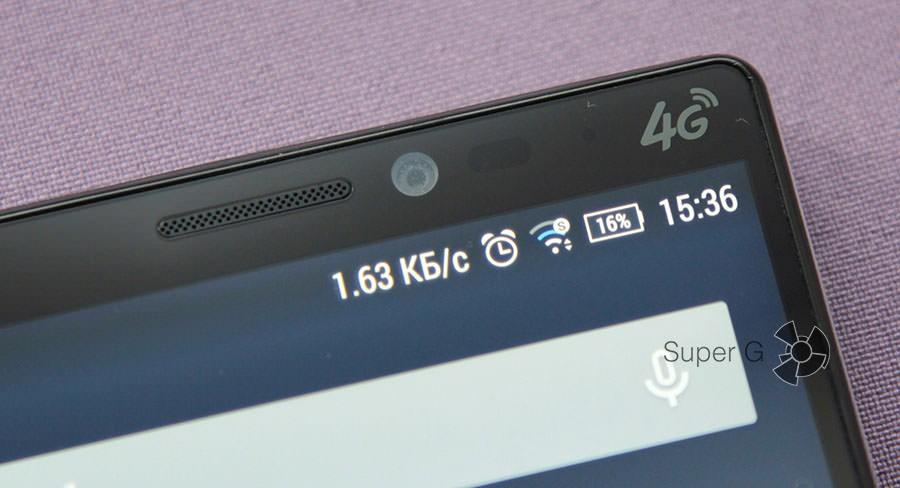 Разговорный динамик, фронтальная камера и датчики