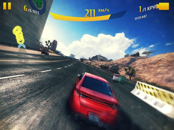 PocketBook SURFpad 4L в игре Asphalt 8