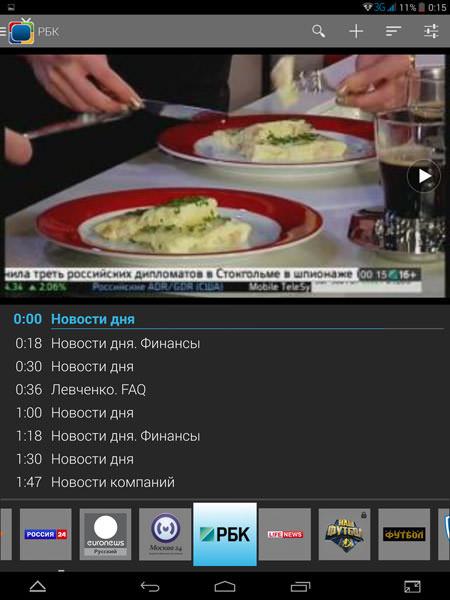 SPB TV для планшета