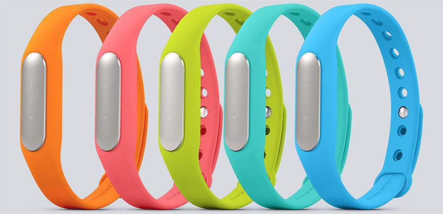 Xiaomi Mi Band оранжевый, розовый, салатовый, синий