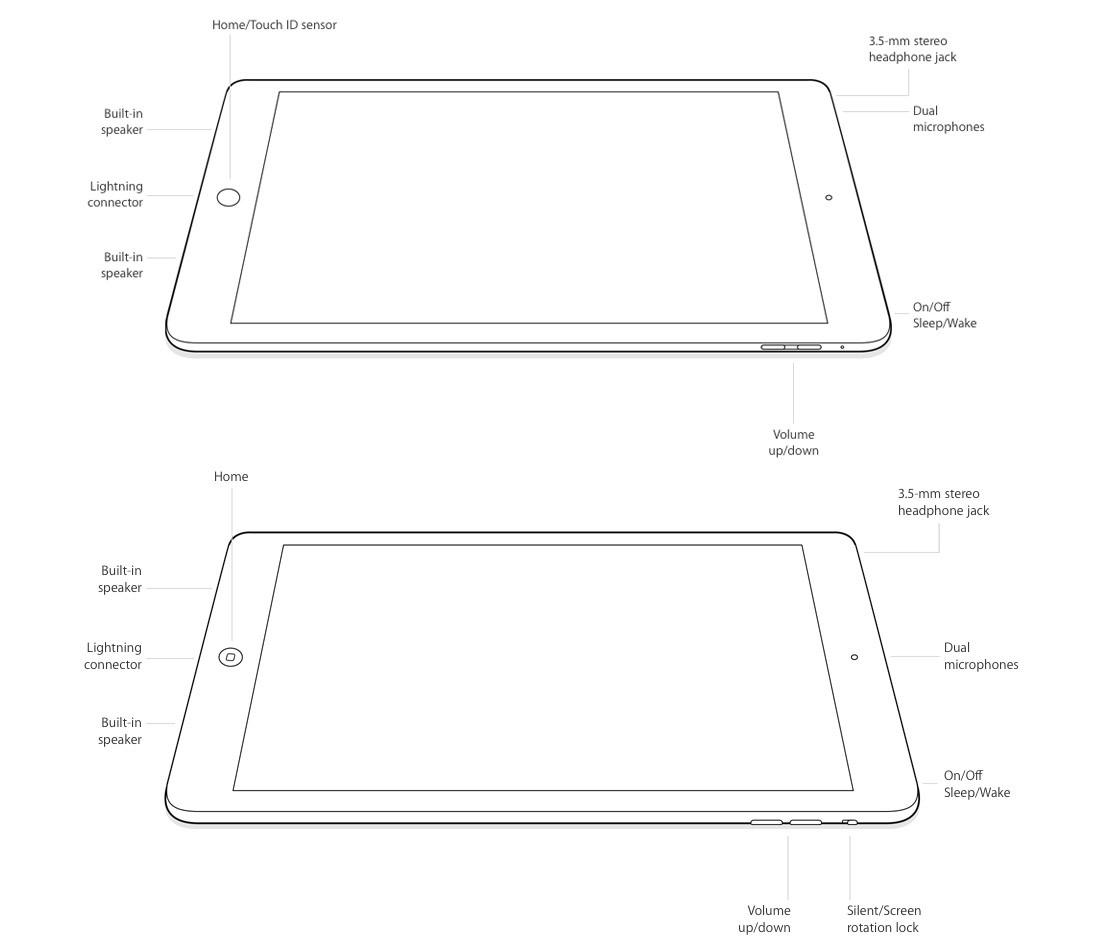 iPad Air и iPad Air 2