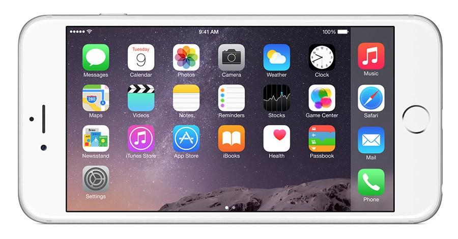 iPhone 6 Plus (горизонтальное положение)