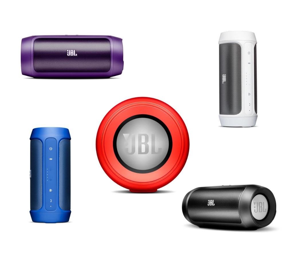 JBL Charge 2: синий, красный, черный, фиолетовый